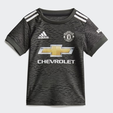 Kids Football Green Manchester United Away Baby Kit