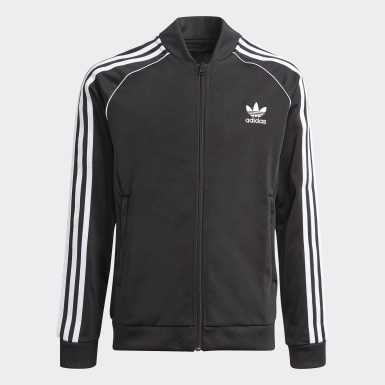 Deti Originals čierna Tepláková bunda Adicolor SST