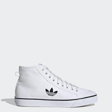 Men Originals White Nizza Hi Shoes
