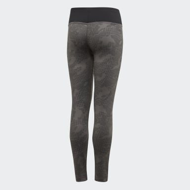 Youth Training Grey Warm Tights