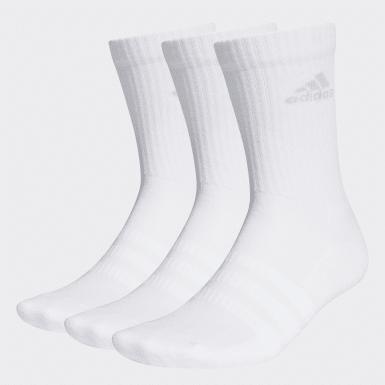 Trénink bílá Ponožky Cushioned Crew – 3 páry