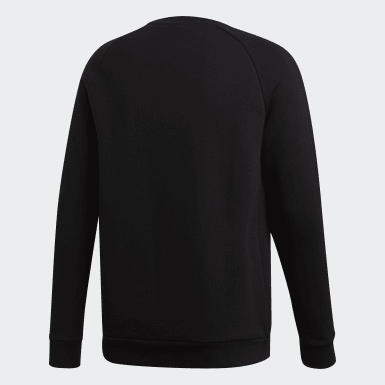 Felpa LOUNGEWEAR Trefoil Essentials Crewneck Nero Uomo Originals
