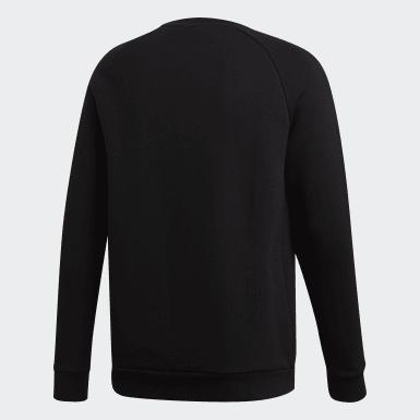 Sweat-shirt Trefoil Essentials Crewneck noir Hommes Originals