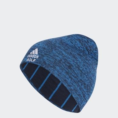 Men Golf Blue Reversible Heathered Crestable Golf Beanie