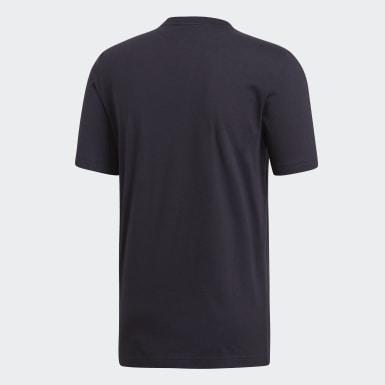 Mænd Athletics Sort Essentials Plain T-shirt