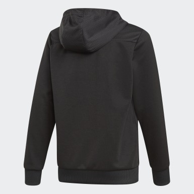 Sweat-shirt à capuche Sport ID Noir Garçons Training
