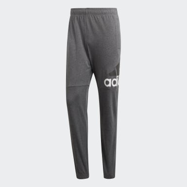 Essentials Performance Logo Pants Szary