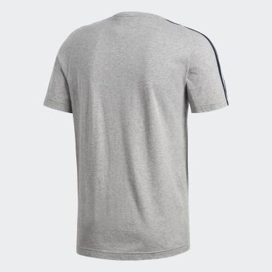 Koszulka Essentials Classics 3-Stripes Szary