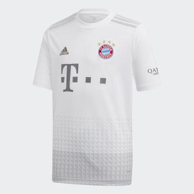 Maglia Away FC Bayern München Bianco Ragazzo Calcio