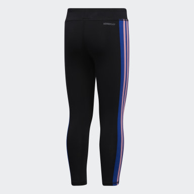 Children Training Black AEROREADY Colorblock Stripe Tights