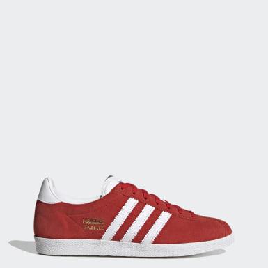 Dames Originals rood Gazelle OG Schoenen