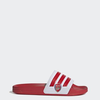 Zimní Sporty červená Pantofle Adilette Shower