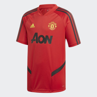 Kinderen Voetbal Rood Manchester United Training Shirt