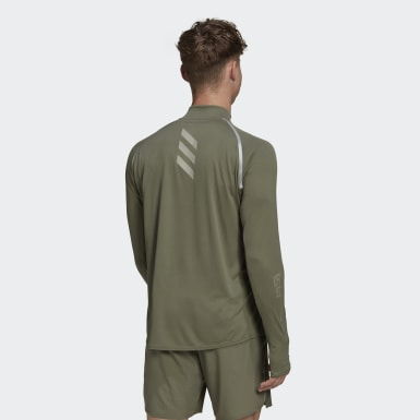 Maglia Reflective Long Sleeve Verde Uomo Running