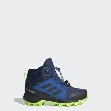 Kids TERREX Blue Terrex Mid GORE-TEX Hiking Shoes
