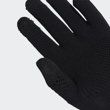 Women adidas by Stella McCartney Black Running Gloves