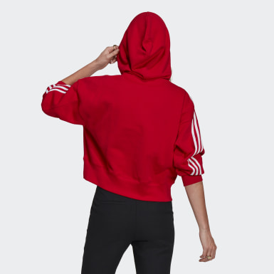 Women Originals Red Adicolor Classics Crop Hoodie