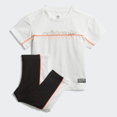 Kinderen Originals Wit Legging T-shirt Setje