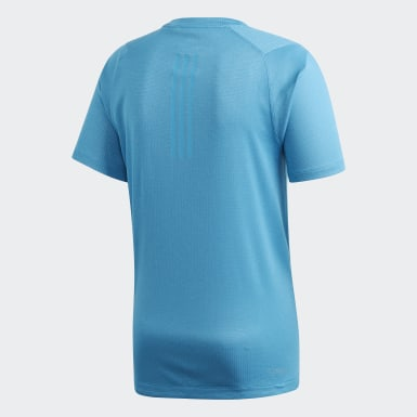 Men Training Turquoise FreeLift 360 Fitted Climachill Tee