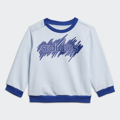 Ensemble Linear French Terry Bleu Enfants Athletics