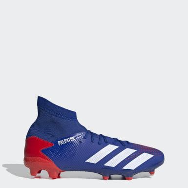 Botines Predator 20.3 Terreno Firme Azul Hombre Fútbol