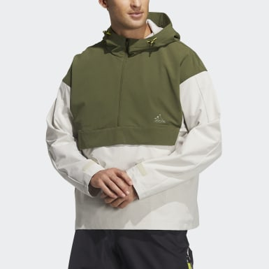Men's Athletics Beige Woven Anorak Jacket