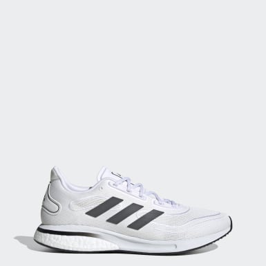 Running White Supernova Shoes