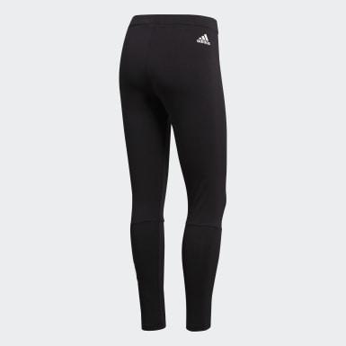 Frauen Athletics Essentials Linear Tight Schwarz
