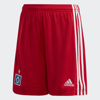 Kids Football Red Hamburger SV 20/21 Home Shorts
