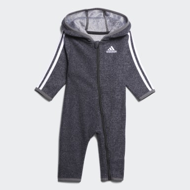 Infant & Toddler Training Black Cozy Fleece Coveralls