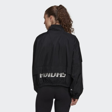 Women Athletics Black Packable Woven Track Jacket