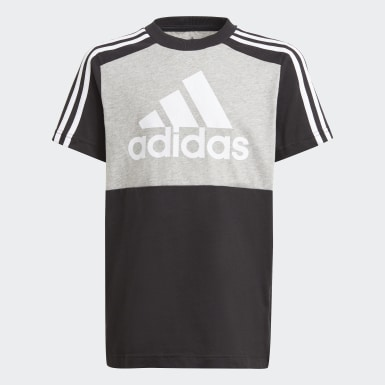 Youth 8-16 Years Athletics Grey adidas Essentials Colorblock T-Shirt