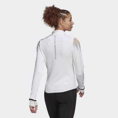 Women Yoga White COLD.RDY Prime Long-Sleeve Top Training Long-Sleeve Top