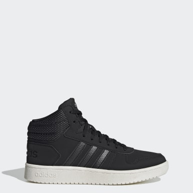 Women's Essentials Black Hoops 2.0 Mid Shoes