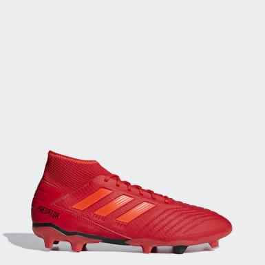 Football Red Predator 19.3 Firm Ground Boots