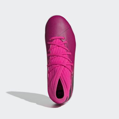Børn Fodbold Pink Nemeziz 19.3 Indoor støvler
