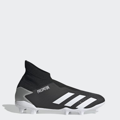 Men Football Black Predator Mutator 20.3 Laceless Firm Ground Boots