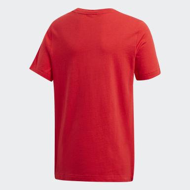 Boys Sport Inspired Red DMH Logo Tee