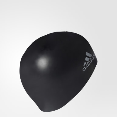 Yüzme Black silicone logo bone