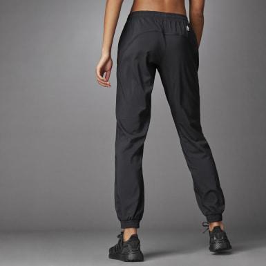 Women Training Black 3 Bar Logo Warm-Up Sports Pants