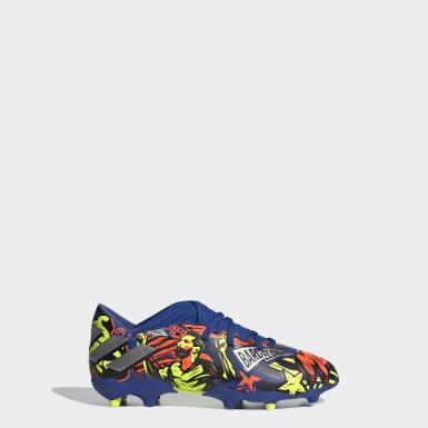 เด็กผู้ชาย ฟุตบอล สีน้ำเงิน รองเท้าฟุตบอล Nemeziz Messi 19.3 Firm Ground