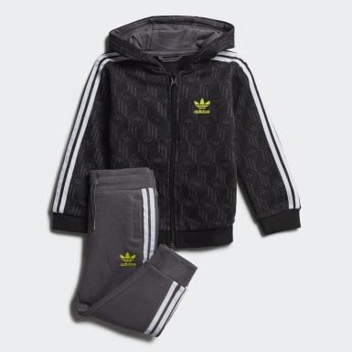 Conjunto Polera con capucha Negro Niño Originals
