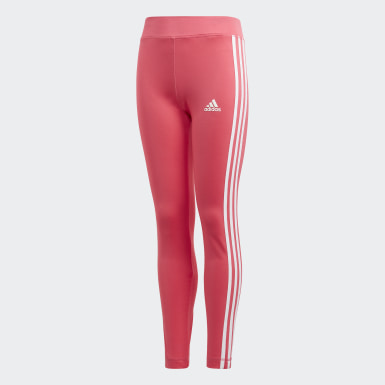 Youth Training Pink Equip 3-Stripes Tights