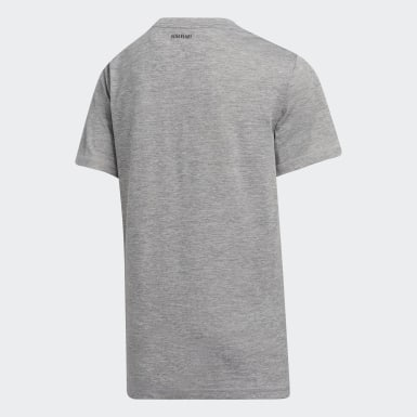 Youth Training Grey AEROREADY Mélange Badge of Sport Tee