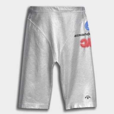 Women Originals Silver adidas Originals by AW Silver Shorts