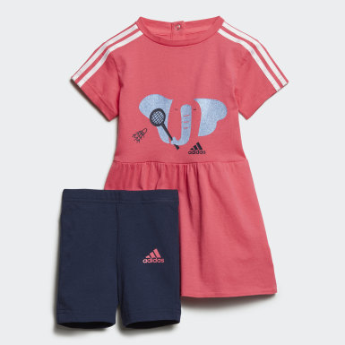 เด็กผู้หญิง Sport Inspired สีชมพู ชุดเสื้อและกางเกง Summer