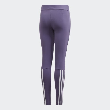 Meisjes Yoga Paars Must Haves 3-Stripes Legging