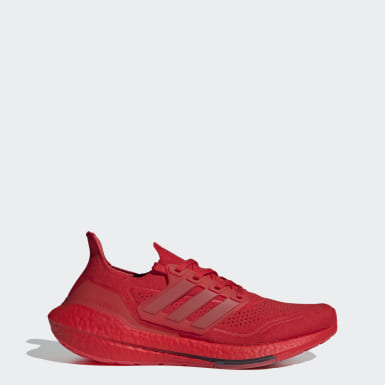 Men Running Red Ultraboost 21 Shoes