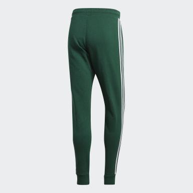 Heren Originals groen 3-Stripes Broek