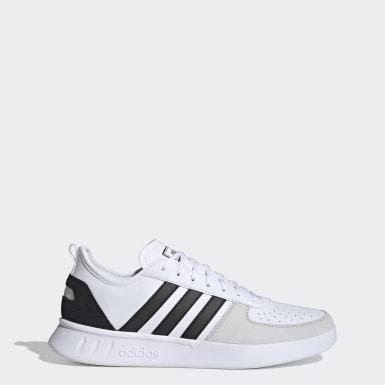 Men Sport Inspired White Court 80s Shoes